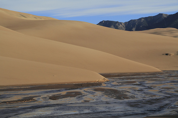 Ephemeral Medano Creek in Great Sand Dunes National Park, Colorado. John offers private photo tours to Great Sand Dunes National Park and Rocky Mountain National Park, Colorado.