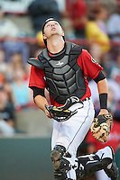 Erie SeaWolves catcher Grayson Greiner (51) during a game against the Richmond Flying Squirrels on August 22, 2016 at Jerry Uht Park in Erie, Pennsylvania.  Erie defeated Richmond 4-2.  (Mike Janes/Four Seam Images)