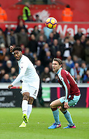 Saturday 04 March 2017<br /> Pictured: Leroy Fer of Swansea City<br /> Re: Swansea City v Burnley, Premier League Match at the Liberty Stadium Swansea, Wales, UK
