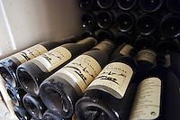 Domaine du Mas de Daumas Gassac. in Aniane. Languedoc. Bottle cellar. France. Europe. Bottle.