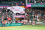 The Giant Shirt is hoisted for Hong Kong team during the HSBC World Rugby Sevens Series Qualifier match between Chile and Hong Kong as part of the Hong Kong Rugby Sevens 2018 on 07 April 2018, in Hong Kong, Hong Kong. Photo by Christopher Palma / Power Sport Images