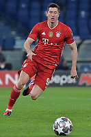 Robert Lewandowski of FC Bayern Munchen in action during the Champions League round of 16 football match between SS Lazio and Bayern Munchen at stadio Olimpico in Rome (Italy), February, 23th, 2021. Photo Andrea Staccioli / Insidefoto