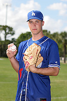 Los Angeles Dodgers minor leaguer Steve Johnson during Spring Training at Dodgertown on March 23, 2007 in Vero Beach, Florida.  (Mike Janes/Four Seam Images)