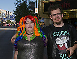 Marilyn and David during the Pride Parade in Reno, Nevada on Saturday, July 27, 2019.