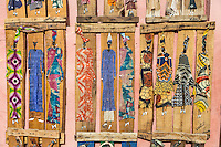 """Senegal, Saint Louis.  Artistic Creations of Wood and Fabric by Local Artist (""""Zoup"""")."""