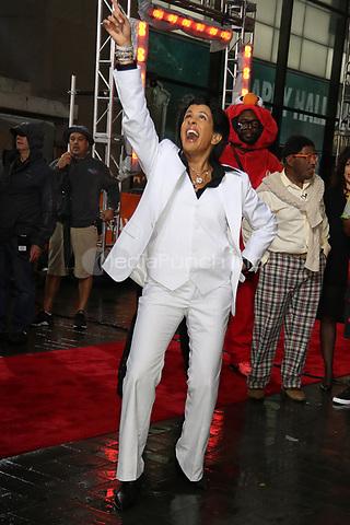 NEW YORK, NY- OCTOBER 31: Hoda Kotb as John Travolta at NBC's Today Show Annual Halloween Episode at Rockefeller Center in New York City on October 31, 2019. credit: RW/MediaPunch