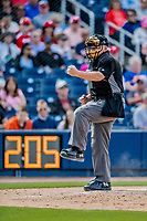 7 March 2019: MLB Umpire Larry Vanover works home plate during a Spring Training game between the Washington Nationals and the New York Mets at the Ballpark of the Palm Beaches in West Palm Beach, Florida. The Nationals defeated the visiting Mets 6-4 in Grapefruit League, pre-season play. Mandatory Credit: Ed Wolfstein Photo *** RAW (NEF) Image File Available ***