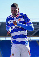 5th April 2021; Madejski Stadium, Reading, Berkshire, England; English Football League Championship Football, Reading versus Derby County;  Lucas Joao of Reading celebrates scoring in 84th minute 3-1