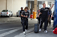 Wednesday 28 August 2013<br /> Pictured: (L-R) Jose Canas, Gerhard Tremmel.<br /> Re: Swansea City FC arrive to Romania for a press conference and training session, a day before their UEFA Europa League, play off round, 2nd leg, against Petrolul Ploiesti in Romania.