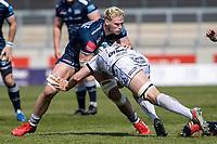 17th April 2021; AJ Bell Stadium, Salford, Lancashire, England; English Premiership Rugby, Sale Sharks versus Gloucester; JP du Preez of Sale Sharks is tackled