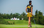 Players in action during the third day of the World Ladies Championship at the Mission Hills Haikou Sandbelt Trails course on 9 March 2013 in Hainan island, China . Photo by Manuel Queimadelos / The Power of Sport Images