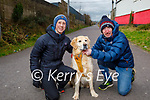 Enjoying a walk on the Tralee Greenway on Sunday, l to r: Doireann and Steven Moore taking Spruce the dog for a walk.