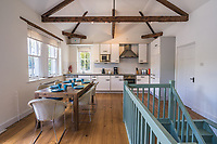 BNPS.co.uk (01202 558833)<br /> Pic: March&Petit/BNPS<br /> <br /> Pictured: The kitchen.<br /> <br /> The ultimate riverside lifestyle is up for grabs with this waterfront home on the market for £3m.<br /> <br /> Rosebank is in an unrivalled spot on the banks of the River Dart, close to a historic church and castle, with spectacular views over the water.<br /> <br /> The three-bedroom property in Dartmouth, Devon, has its own boathouse and direct access to the river, as well as a superb riverside terrace.<br /> <br /> The house is close to the mouth of the river, with St Petrox Church and Dartmouth Castle as its neighbours, which are just visible from the veranda.