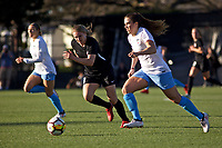 Portland, OR - Sunday March 11, 2018: Ashley Herndon, Stephanie McCaffrey during a National Women's Soccer League (NWSL) pre season match between the Portland Thorns FC and the Chicago Red Stars at Merlo Field.