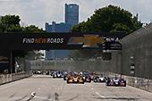 Verizon IndyCar Series<br /> Chevrolet Detroit Grand Prix Race 2<br /> Raceway at Belle Isle Park, Detroit, MI USA<br /> Sunday 4 June 2017<br /> Takuma Sato, Andretti Autosport Honda leads at the green flag<br /> World Copyright: Phillip Abbott<br /> LAT Images