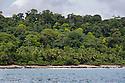 Coastline along Corcovado National Park, Osa Peninsula, Costa Rica, May.