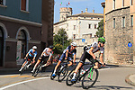 2021 UEC Road Cycling European Championships. Trento, Italy on September 12, 2021. Elite Men Road Race, from right, Jonas Rapp (GER) and Warren Barguil (FRA)