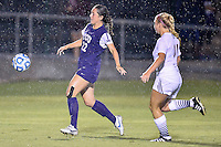 TCU forward Emma Heckendorn (22) and Texas State defender Taylor Allen (11) go after the ball during NCAA soccer game, Friday, September 12, 2014 in San Marcos, Tex. TCU defeated Texas State 1-0. (Mo Khursheed/TFV Media via AP Images)