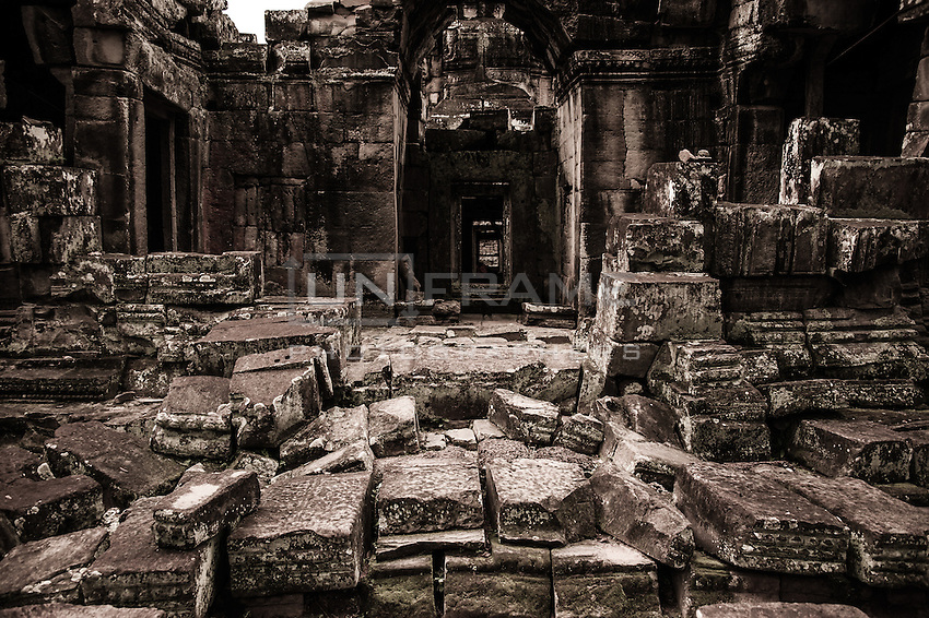UNESCO World Heritage Site,  the ruins of the Ankgor Wat temples. The future of the monumental complex relies on a very delicate and complex balance between preservation and intensive tourist exploitation.   Seam Reap, Cambodia.