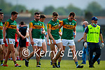 Joe O'Connor, Kerry, Jack Sherwood, Kerry, Adrian Spillane, Kerry, Jack Barry, Kerry, and Doctor Michael Finnerty after the Allianz Football League Division 1 Semi-Final, between Tyrone and Kerry at Fitzgerald Stadium, Killarney, on Saturday.