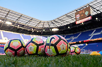 Harrison, NJ - Wednesday Aug. 03, 2016: Soccer balls during a CONCACAF Champions League match between the New York Red Bulls and Antigua at Red Bull Arena.