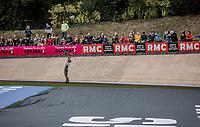 Sonny Colbrelli (ITA/Bahrain-Victorius) wins the  118th Paris-Roubaix 2021 (1.UWT)<br /> One day race from Compiègne to Roubaix (FRA) (257.7km)<br /> <br /> ©kramon