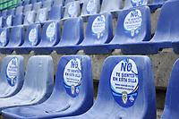 MONTERIA -COLOMBIA, 25-09-2020: Protocolos de Biosegurdad antes del encuentro entre Jaguares de Córdoba  y La Equidad en partido por la fecha 10 de la Liga BetPlay DIMAYOR I 2020 jugado en el estadio Jaraguay Municipal de la ciudad de Montería. / Biosecurity protocols before the meeting between Jaguares de Córdoba and La Equidad  in match for the date 10 BetPlay DIMAYOR League I 2020 played at Jaraguay Municipal stadium in Monteria city: VizzorImage/ Andrés Felipe López / Contribuidor