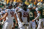 Oklahoma State Cowboys offensive lineman Deionte Noel (68) in action during the game between the OSU Cowboys and the Baylor Bears at the McLane Stadium in Waco, Texas.