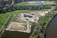Kreetsand: EUROPA, DEUTSCHLAND, HAMBURG 31.08.2016:   Tiedeelbe Konzept Kreetsand, Hamburg Port Authority (HPA), soll auf der Ostseite der Elbinsel Wilhelmsburg zusaetzlichen Flutraum für die Elbe schaffen. Das Tidevolumen wird durch diese strombauliche Massnahme vergroessert und der Tidehub reduziert. Gleichzeitig ergeben sich neue Moeglichkeiten für eine integrative Planung und Umsetzung verschiedenster Interessen und Belange aus Hochwasserschutz, Hafennutzung, Wasserwirtschaft, Naturschutz und Naherholung.