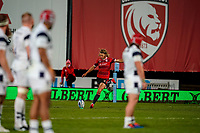 21st August 2020; Kingsholm Stadium, Gloucester, Gloucestershire, England; English Premiership Rugby, Gloucester versus Bristol Bears; Billy Twelvetrees of Gloucester scores with a penalty kick in the 42nd minute for 17-26