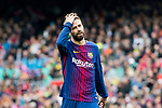 Gerard Pique Bernabeu of FC Barcelona reacts during the La Liga 2017-18 match between FC Barcelona and Valencia CF at Camp Nou on 14 April 2018 in Barcelona, Spain. Photo by Vicens Gimenez / Power Sport Images