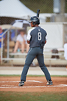 Sanson Faltine III during the WWBA World Championship at the Roger Dean Complex on October 20, 2018 in Jupiter, Florida.  Sanson Faltine III is a shortstop from Richmond, Texas who attends William B Travis High School and is committed to Texas.  (Mike Janes/Four Seam Images)