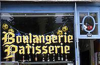 Europe/France/Auvergne/63/Puy-de-Dôme/La Bourboule: Pâtisserie Rozier - Détail de la façade en mosaïque art déco 1920