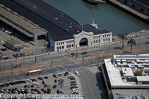 aerial photograph Pier 15 San Francisco, California