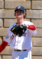RHP Clay Buchholz of the Pawtucket Red Sox at McCoy Stadium in Pawtucket, RI 5-19-09 (Photo by Ken Babbitt/Four Seam Images)