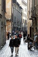Uno scorcio del centro di Bergamo.<br /> Street scene in downtown Bergamo.<br /> UPDATE IMAGES PRESS/Riccardo De Luca