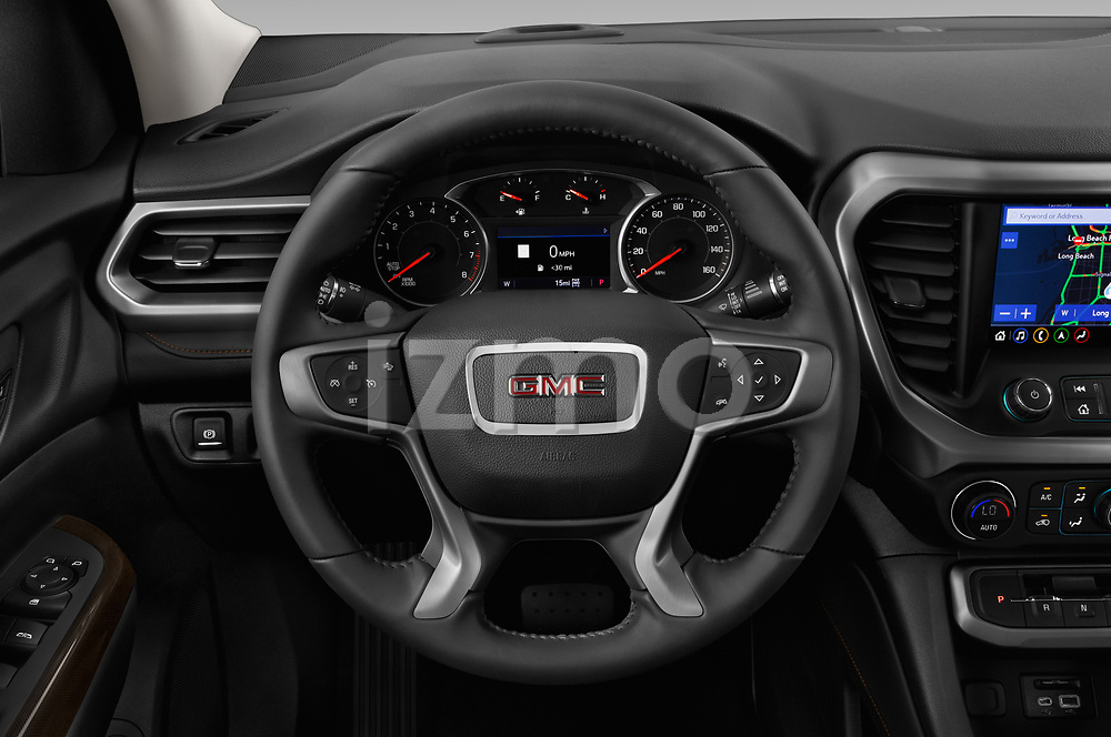 Car pictures of steering wheel view of a 2020 GMC Acadia AT4 5 Door SUV