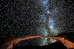The Milky Way rises above the famous Landscape Arch with very clear air after a cold November storm.