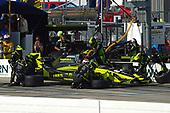 Verizon IndyCar Series<br /> Iowa Corn 300<br /> Iowa Speedway, Newton, IA USA<br /> Sunday 9 July 2017<br /> Charlie Kimball, Chip Ganassi Racing Teams Honda makes a pit stop.<br /> World Copyright: F. Peirce Williams<br /> LAT Images