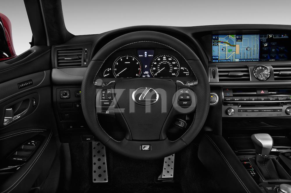 Steering wheel view of a 2013 Lexus LS 460 4dr Rear-Wheel Drive Sedan