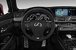 Steering wheel view of a 2013 Lexus LS 460 4dr Rear-Wheel Drive Sedan