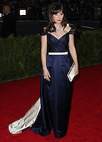 "NEW YORK CITY, NY, USA - MAY 05: Zooey Deschanel at the ""Charles James: Beyond Fashion"" Costume Institute Gala held at the Metropolitan Museum of Art on May 5, 2014 in New York City, New York, United States. (Photo by Xavier Collin/Celebrity Monitor)"