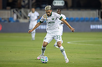 SAN JOSE, CA - SEPTEMBER 19: Cristhian Paredes #6 of the Portland Timbers controls the ball during a game between Portland Timbers and San Jose Earthquakes at Earthquakes Stadium on September 19, 2020 in San Jose, California.