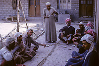 Kuwait April 1967.  Dhow Construction Workers Taking a Coffee Break.