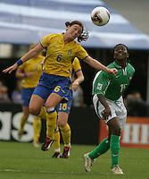 malin Mostroem(Sweden) v Maureen Mmadu(Nigeria) 2003 WWC Sweden vNigeria