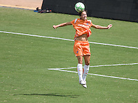 Sky Blue FC defender Keeley Dowling heads a ball late in the Championship match. The Sky Blue FC defeated the LA Sol 1-0 to win the WPS Final Championship match at Home Depot Center stadium in Carson, California on Saturday, August 22, 2009...