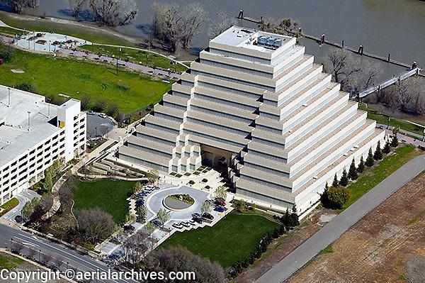 aerial photograph Ziggurat Building, West Sacramento, Yolo County, California