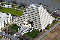 aerial photograph Ziggurat Building, West Sacramento, Yolo County, California