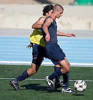 Perry Kitchen and Carlos Martinez training. 2009 CONCACAF Under-17 Championship From April 21-May 2 in Tijuana, Mexico