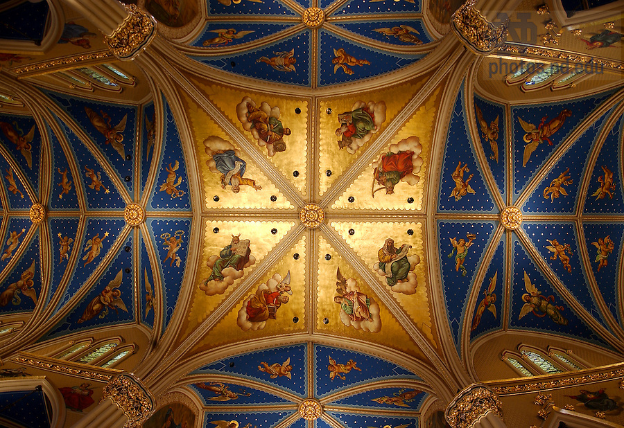 Ceiling of the Basilica of the Sacred Heart.<br /> <br /> Photo by Matt Cashore/University of Notre Dame